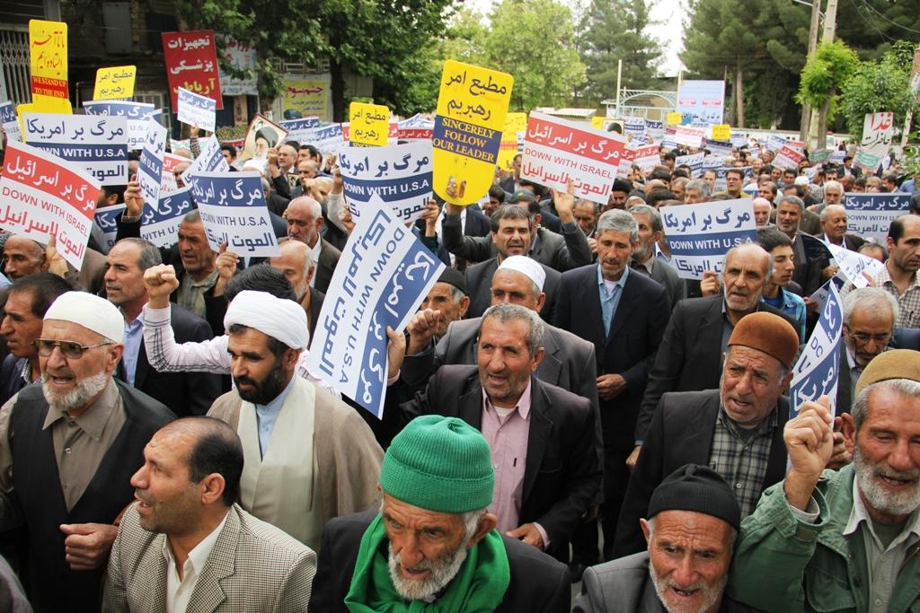 محکوم نمودن جنایات آل سعود بعد از خطبه های نماز جمعه در استان کهگیلویه و بویراحمد + گزارش تصویری